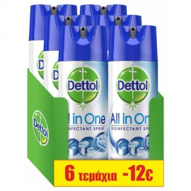 Dettol SET All In One Crisp Linen Απολυμαντικό Spray 6τμχ 6x400ml