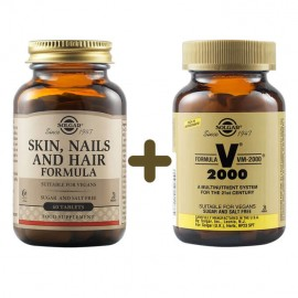 Solgar Skin Nails And Hair Formula 60tabs & Solgar Formula VM 2000 14tabs