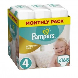 Pampers Premium Care Monthly Pack Νο4 (9-14kg) 168τμχ