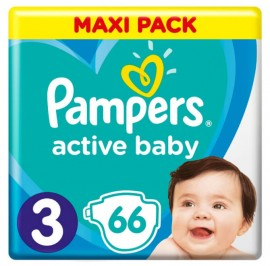 Pampers Active baby-dry No 3 (6-10kg) 66τμχ