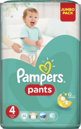 Pampers Pands No 4 (9-15kg) 52τμχ