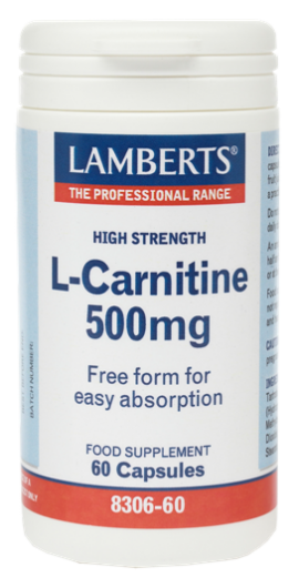 Lamberts L - Carnitine 500mg 60caps