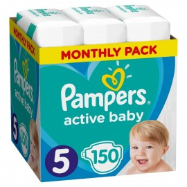 Pampers Active Baby Monthly Pack No5 ( 11 - 16kg) 150τμχ