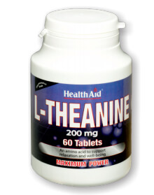 Health Aid  L-Theanine 200mg 60 Δισκία