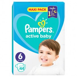 Pampers Active Baby Dry Maxi Pack 13-18kg No 6 44τμχ