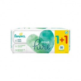 Pampers Pure Aqua Baby Wipes Μωρομάντηλα 1+1 ΔΩΡΟ 2x48τμχ