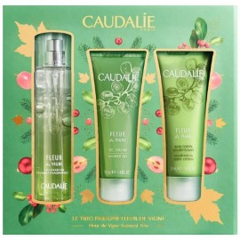 Caudalie Set Eau Des Vignes Scented Trio Set Fresh Fragrance 50ml & Shower Gel 50ml & Nourishing Body Lotion 50ml