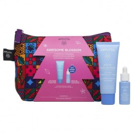 Apivita set Awesome Blossom Aqua Beelicious Oil-Free Κρέμα Gel 40ml & ΔΩΡΟ Aqua Beelicious Booster 10ml