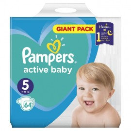 Pampers Active Baby Giant Pack No5 (11-16kg) 64τμχ