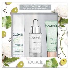 Caudalie Instant Brightening Heroes Set Vinoperfect Radiance Serum 30ml & Instant Foaming Cleanser 50ml & Glycolic Peel Mask 15ml
