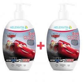 Helenvita Kids Cars 2 in 1 Shampoo & Shower Gel 1+1 2x500ml