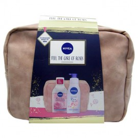 Nivea Feel The Care Of Roses Set Nivea Micellair Νερό Καθαρισμού Με Ροδόνερο 2 Φάσεων 400ml & Nivea Body Oil in Lotion Rose & Argan Oil 200ml