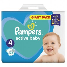 Pampers Active Baby Giant Pack No4 (9-14kg) 76τμχ