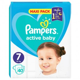 Pampers Active Baby Dry Maxi Pack No 7 (15+kg) 40τμχ 1+1 ΔΩΡΟ