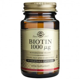 Solgar Biotin 1000mg, 50 Vegetable Caps