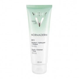 Vichy Normaderm 3 in 1 cleanser + Scrub + Mask 125ml