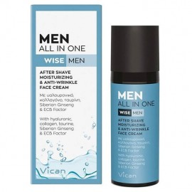 Vican Men All In One After Shave & All Day Face Cream Ενυδατική & Αντιγηραντική κρέμα Προσώπου 50ml