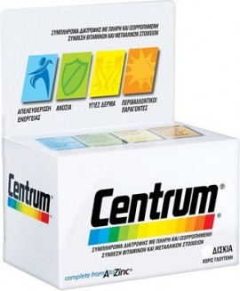 Centrum A to Zinc 60 tabs