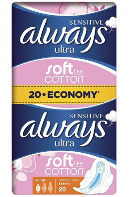 Always Sensitive Ultra Normal Plus Economy Pack 20τμχ