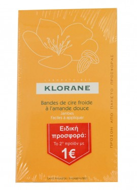 Klorane Cold Wax Strips With Sweet Almond 2x6τμχ