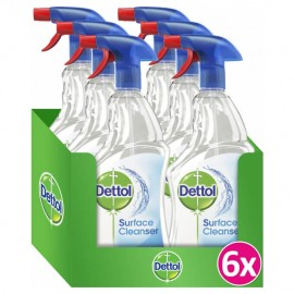 Dettol Surface Cleanser Απολυμαντικό Spray 6τμχ 6x500ml