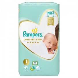 Pampers Premium Care no 1 ( 2-5kg) 52τμχ