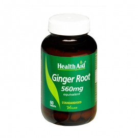 Health Aid Ginger Root 560mg 60vegan tablets