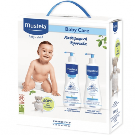 Mustela Baby Care Set Gentle Cleansing Gel 500ml & Hydra Body Lotion 500ml & δώρο Musti Αρκουδάκι