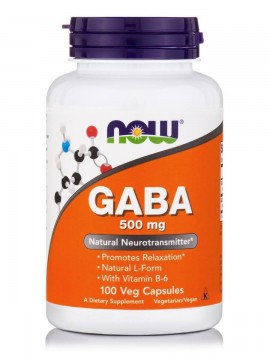 Now Gaba 500mg 100 veg capsules