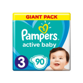 Pampers Active baby-dry No 3 (6-10kg) 90τμχ