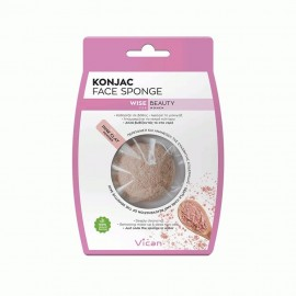Vican Konjac Face Sponge With Pink  Clay Powder 1τμχ
